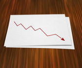 Fall Graph on Paper — Stock Photo