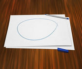 Piece of Paper on Table — Stock Photo
