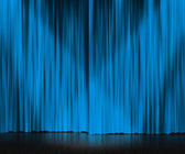 Blue Curtain Stage Background — Stock Photo