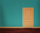 Retro Door in the Wall — Stock Photo