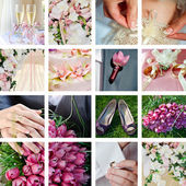 Collage from wedding photos — Stock Photo