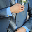 Buttonhole with rose — Stock Photo