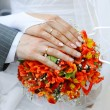 Hands and wedding rings — Stock Photo #10546721