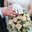 Hands and wedding rings — Stock Photo #10546728
