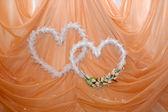 Two wedding hearts — Stock Photo