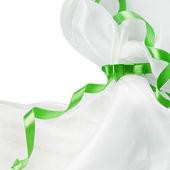 Zelená stuha — Stock fotografie