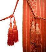 Red oriental curtain — Stock Photo