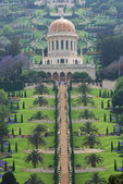 Haifa and the Bahai garden — Stock Photo