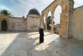 Inside the yard of the Dome of the rock — Photo