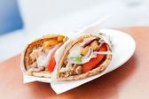 Greek streetfood - Gyros — Stock Photo