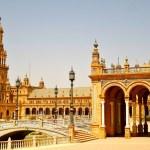 Plaza de Espanya in Seville, Spain — Stock Photo