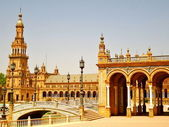 Plaza de Espanya in Seville, Spain — Stockfoto