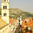 Overlook in Old Walled City - Dubrovnik, Croatia — Stock Photo