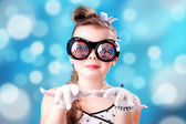 A girl in glasses — Stock Photo