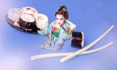 La japonesa y sushi — Foto de Stock