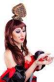 Queen of spades — Стоковое фото