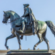 Statue of Frederick the Great (Frederick II of Prussia) in Berlin — Stok fotoğraf