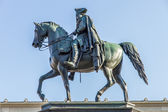 Statue of Frederick the Great (Frederick II of Prussia) in Berlin — Stock Photo