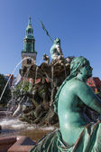 Neptune fountain in front of the St Mary Church in Berlin — Stock Photo