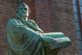Statue of the German church reformator Martin Luther — Stock Photo