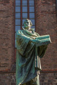 Statue of Martin Luther in downtown Berlin — Stock Photo