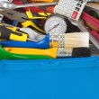 Stock Photo: Set of tools in toolbox