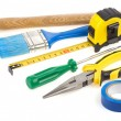 Stock Photo: Set of construction tools isolated on white