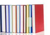 Stack of colorful isolated on white — Stock Photo