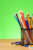 Vuelta al concepto de escuela verde — Foto de Stock