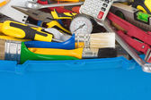 Set of tools in toolbox — Stock Photo
