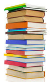 Pile of books isolated on white — Stock Photo