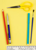 Set school accessories — Stock Photo