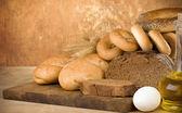 Prodotti da forno e grano — Foto Stock