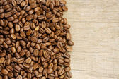 Coffee beans with copy space — Стоковое фото