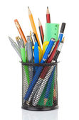 Holder full of pen and pencil — Stock Photo