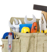 Tools in belt bag — Stock Photo