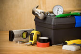 Set of tools and toolbox — Stock Photo