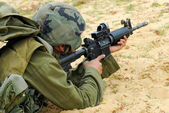 M16 Israel Army Rifle Soldier — Stock Photo