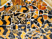 Mosaic Detail in park Guell in Barcelona, spain — Stock Photo