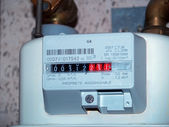 Gas meter — Stock Photo