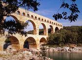 Aqueduct Pont du Gard — Stock Photo