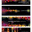 Set of abstract banners with text — Stock Vector