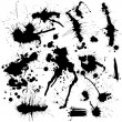 Blots of ink - Stock Vector
