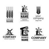 Vários logotipos que você pode usar como um logotipo da empresa. — Vetor de Stock