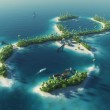 Paradise tropical island in the form of infinity sign. Infinite pleasure — Stock Photo