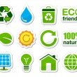 Royalty-Free Stock Vector Image: Green / eco icons