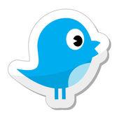 Icono de pájaro de twitter — Vector de stock