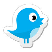 Twitter bird icon — Stockvektor