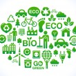 Clean planet icons set — Stock Vector