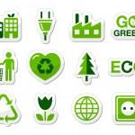 Green icon set — Stock Vector #10683854